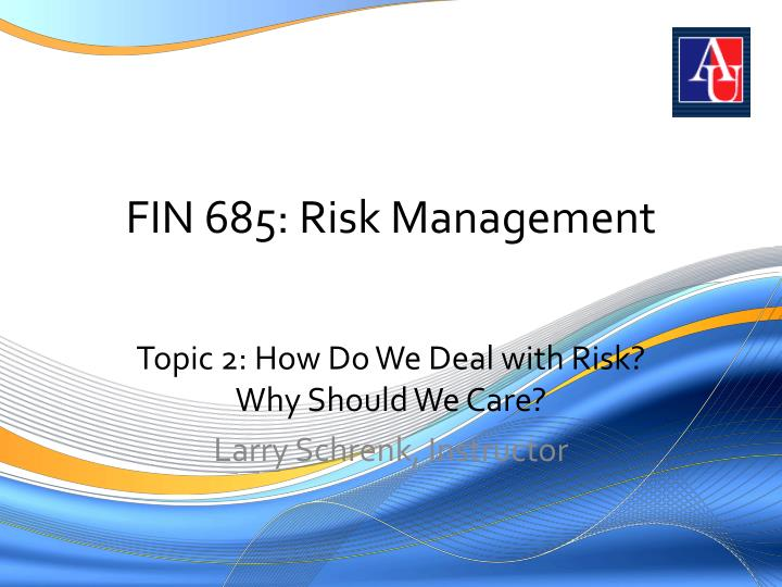 fin 685 risk management n.