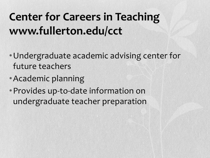an advice for future teacher cadets South carolina: teacher cadets project create (see also this 2014 study on project create) utah: paraeducator to special education teacher program partnerships education commission of the states strives to respond to information requests within 24 hours.