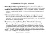 automobile coverage continued