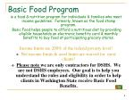 basic food program