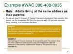 example wac 388 408 0035