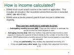 how is income calculated