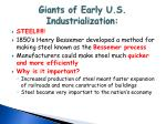 giants of early u s industrialization