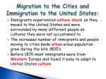 migration to the cities and immigration to the united states2