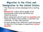 migration to the cities and immigration to the united states4