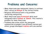 problems and concerns1