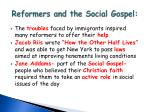 reformers and the social gospel