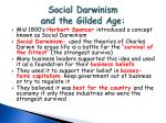 social darwinism and the gilded age