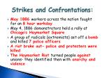 strikes and confrontations1