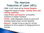 the american federation of labor afl