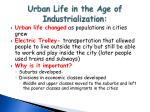 urban life in the age of industrialization