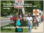 lobbying program