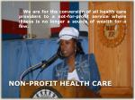 non profit health care