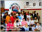 thank you retirees for single payer health care