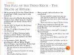the fall of the third reich the death of hitler