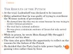 the results of the putsch