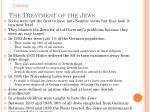 the treatment of the jews1