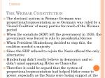 the weimar constitution