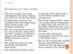 workers in the cities