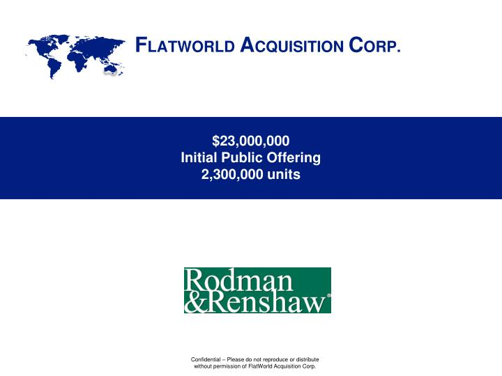 23 000 000 initial public offering 2 300 000 units n.