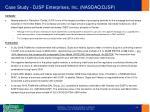case study djsp enterprises inc nasdaq djsp