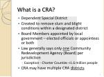 what is a cra