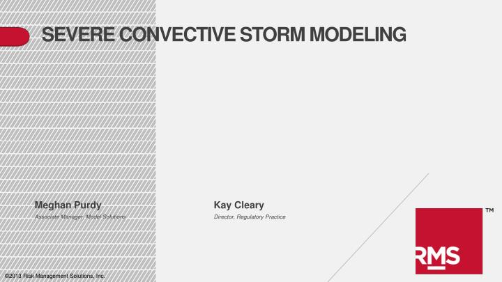 severe convective storm modeling n.