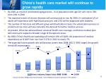 china s health care market will continue to grow rapidly