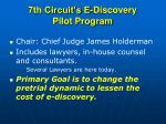 7th circuit s e discovery pilot program