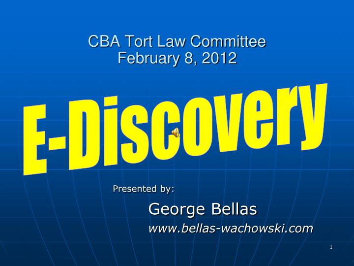 cba tort law committee february 8 2012 n.