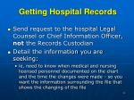 getting hospital records