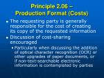 principle 2 06 production format costs