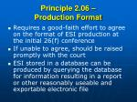 principle 2 06 production format