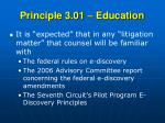 principle 3 01 education