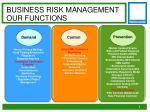 business risk management o ur functions