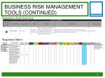 business risk management tools continued