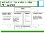 individual life and annuities at a glance