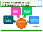internal influences on audit and compliance planning