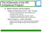the 9 elements of the ips compliance program2