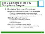 the 9 elements of the ips compliance program4