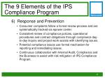 the 9 elements of the ips compliance program5