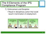 the 9 elements of the ips compliance program6