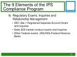 the 9 elements of the ips compliance program8