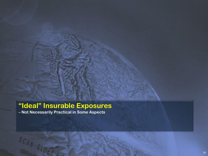 """Ideal"" Insurable Exposures"