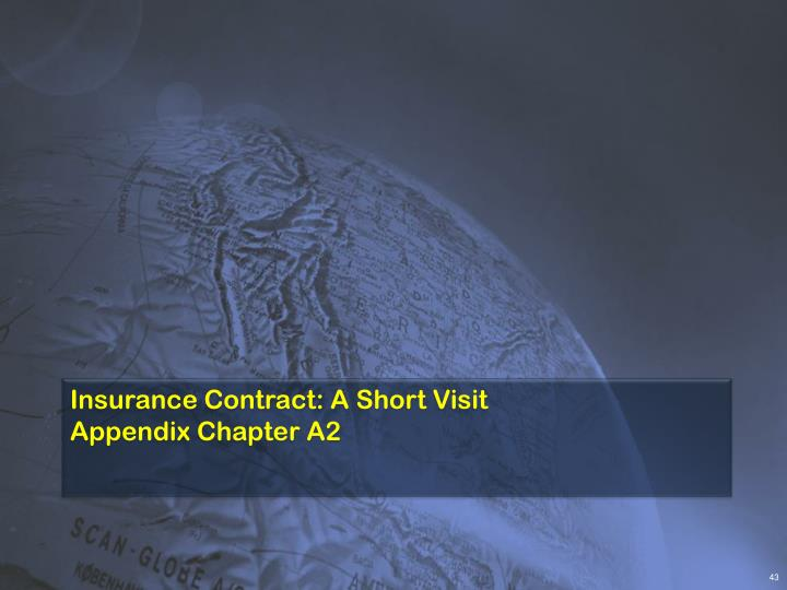 Insurance Contract: A Short Visit