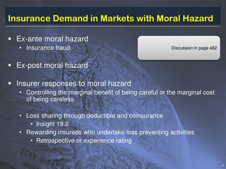 Insurance Demand in Markets with Moral Hazard