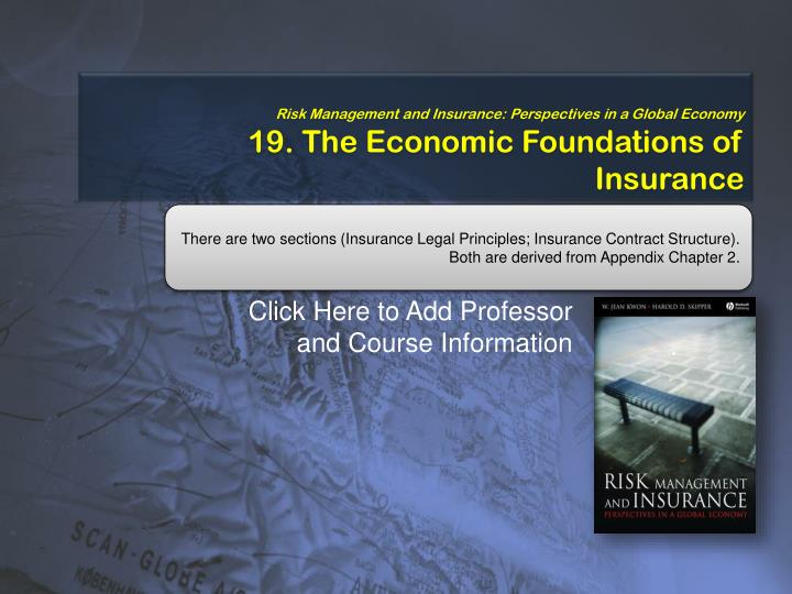 Risk Management and Insurance: Perspectives in a Global Economy