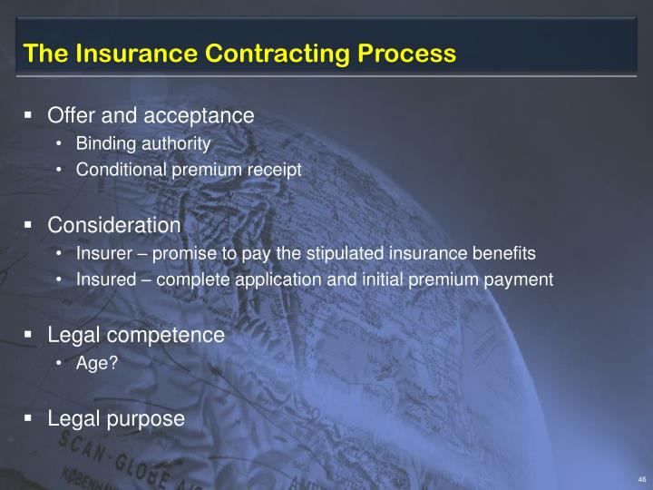 The Insurance Contracting Process