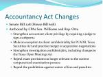 accountancy act changes