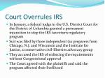 court overrules irs